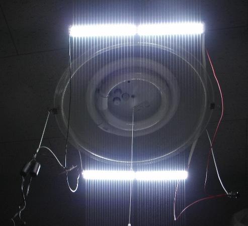 蛍光灯をLEDと交換